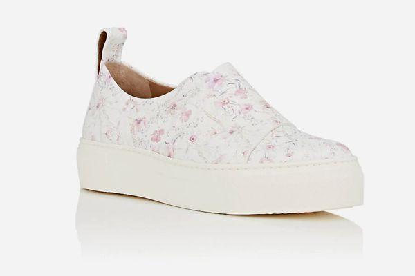 Calvin Klein Ariel Leather Platform Sneakers
