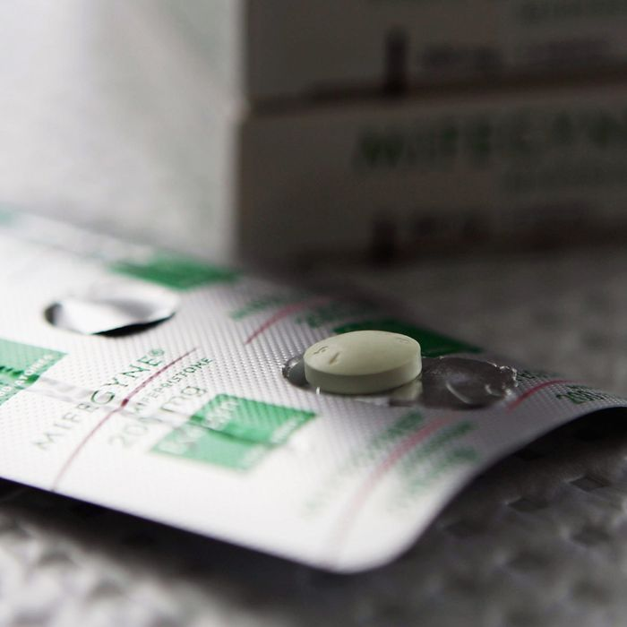 Medical abortion pill RU-486.