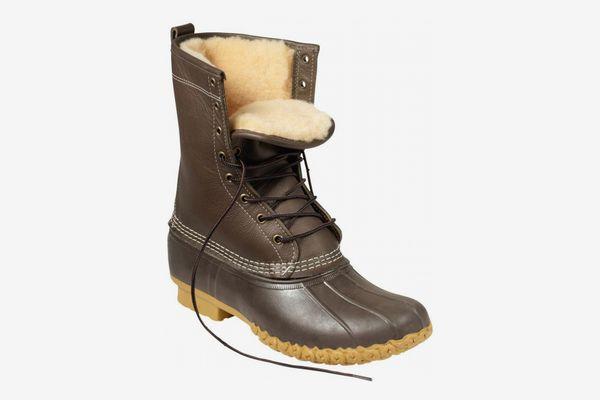 "Men's L.L. Bean Boots, 10"" Shearling-Lined"
