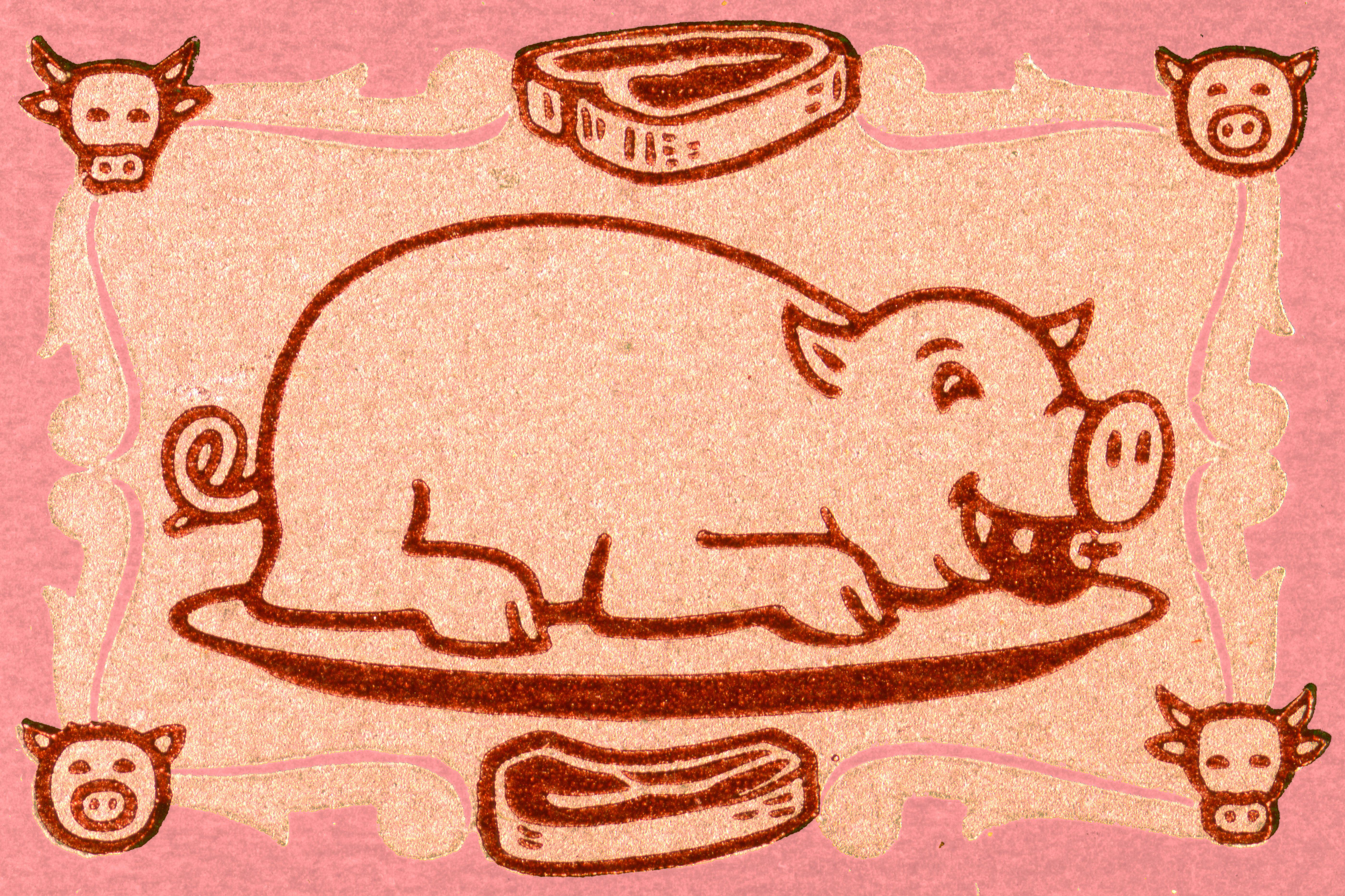 Pig on platter