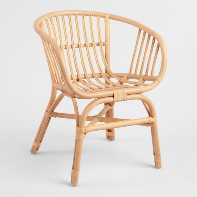 Cost Plus World Market Natural Rattan Rachelle Chair - Set Of 2