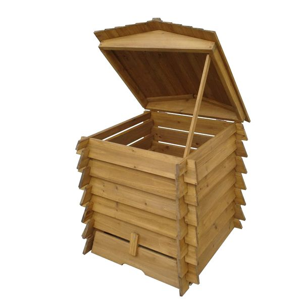 Easipet Wooden BeeHive Style Compost Bin
