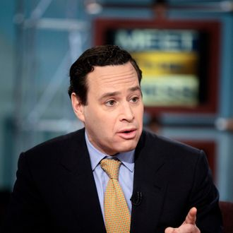 David Frum, columnist and former speechwriter for President George W. Bush, speaks during a live taping of 'Meet the Press' at NBC studios March 15, 2009 in Washington, DC. Dr. Christina Romer, Chair of the White House Council of Economic Advisers, Rep. Eric Cantor (R-VA), House Republican Whip, David Frum, Columnist and former speechwriter for President George W. Bush, Katty Kay, Washington Correspondent for BBC World News America, Steve Liesman, Senior Economics Reporter at CNBC, Tavis Smiley, host of PBS's Tavis Smiley and PRI's The Tavis Smiley Show, appeared on the show to speak about politics and the US economy.