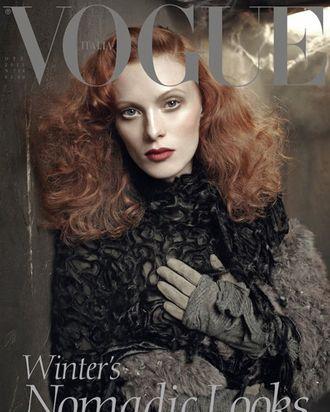 Karen Elson for Italian <em>Vogue</em>.