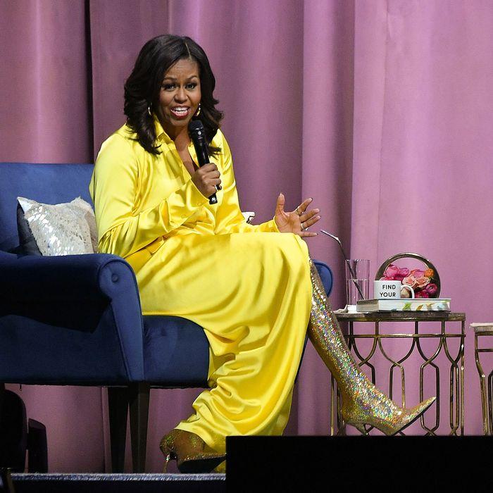 Michelle Obama Casually Wears 4 000 Balenciaga Boots