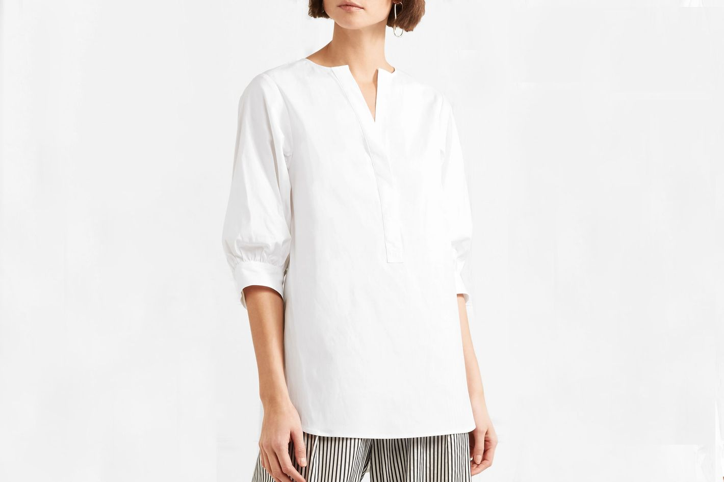 Theory Oversized stretch-cotton poplin tunic