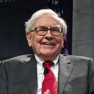 Billionaire Warren Buffett, CEO and chairman of investment company Berkshire Hathaway, speaks during a conversation with David Rubenstein, president of the Economic Club of Washingtron