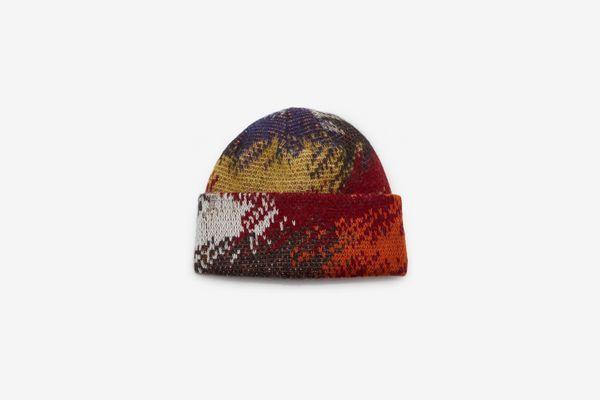 Missoni Abstract-Print Wool-Blend Beanie