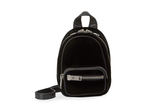 Alexander Wang Attica Mini Velvet Multifunction Backpack