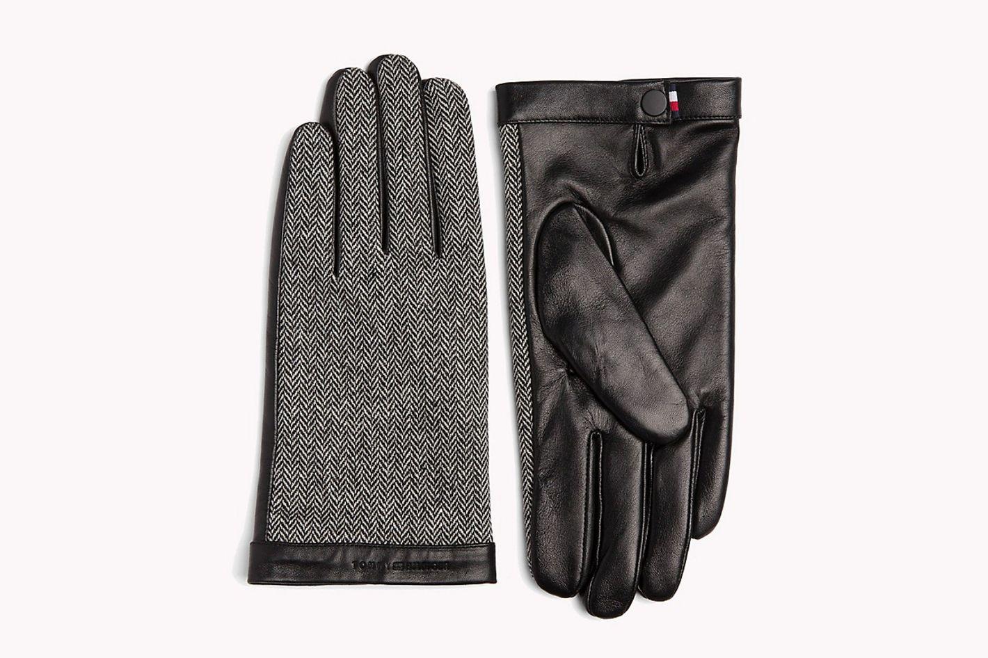 Herringbone Leather Gloves