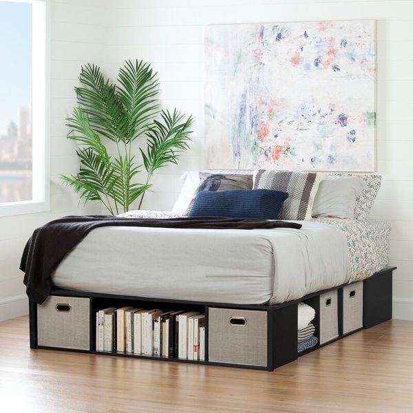 South Shore Flexible Storage Platform Bed