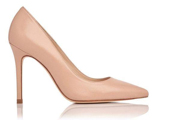 L.K. Bennett Fern Napa Leather Heel