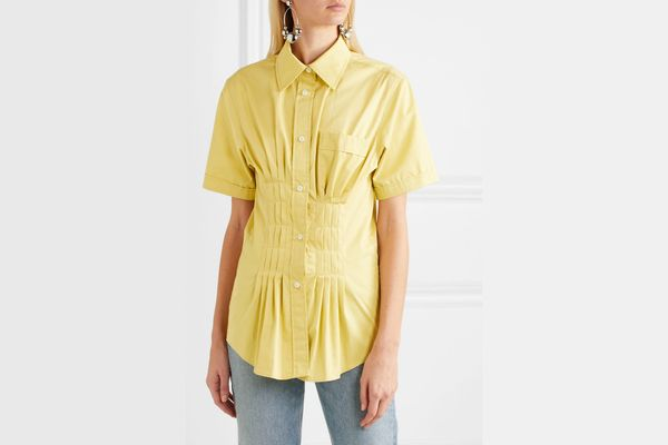 Isabel Marant Gramy pleated cotton-poplin shirt