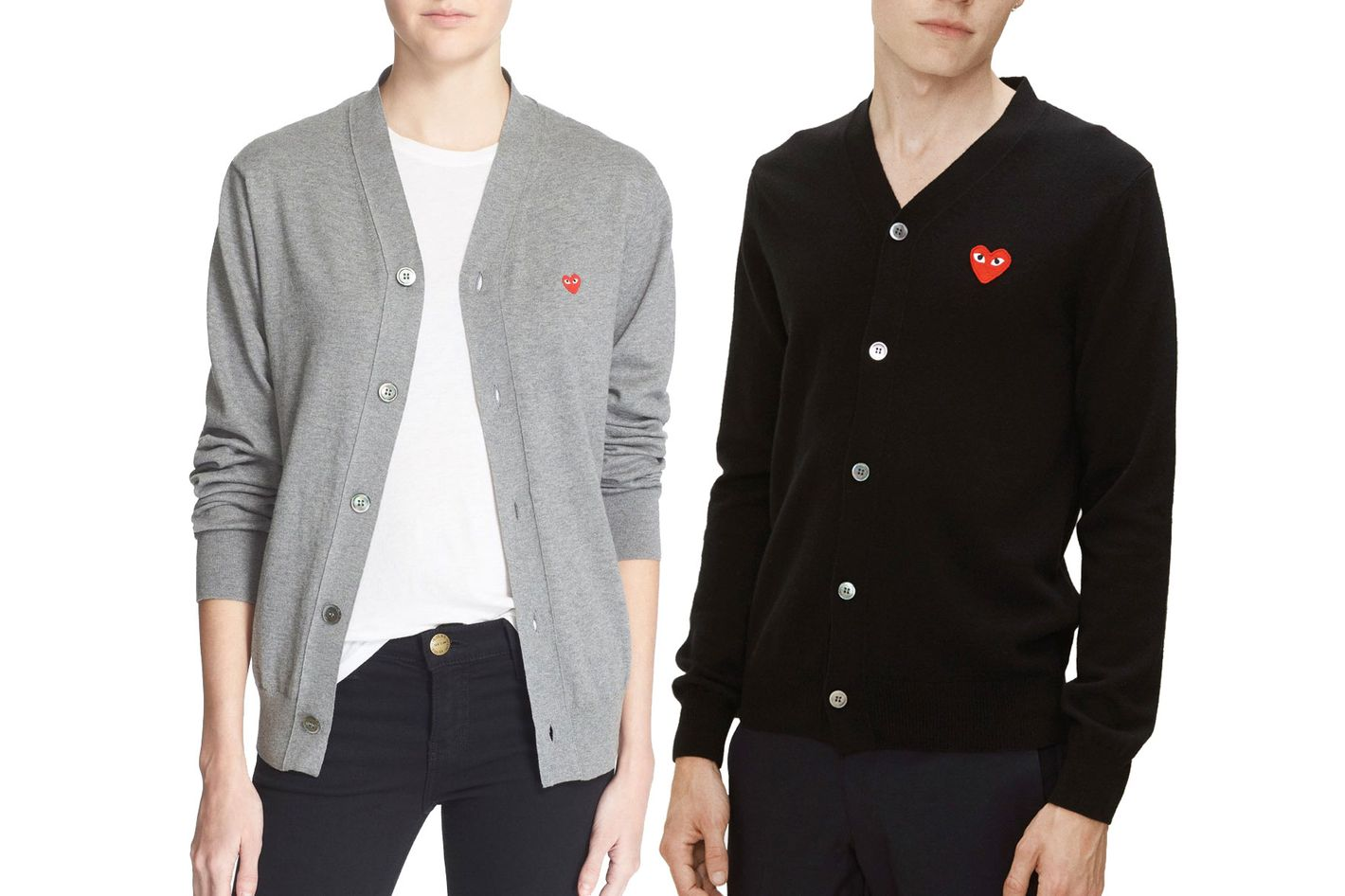 e74aea15a4e6 Comme Des Garcons Play Cotton Cardigan