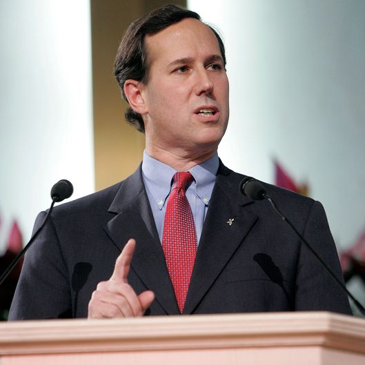 PHILADELPHIA -  JANUARY 8:  Senator Rick Santorum (R-PA) gestures while speaking at the Justice Sunday III rally on January 8, 2006 in Philadelphia, Pennsylvania. Sponsored by the Family Research Council, the rally was held one day before the start of confirmation hearings for Supreme Court nominee Samuel Alito.  (Photo by Jeff Fusco/Getty Images)