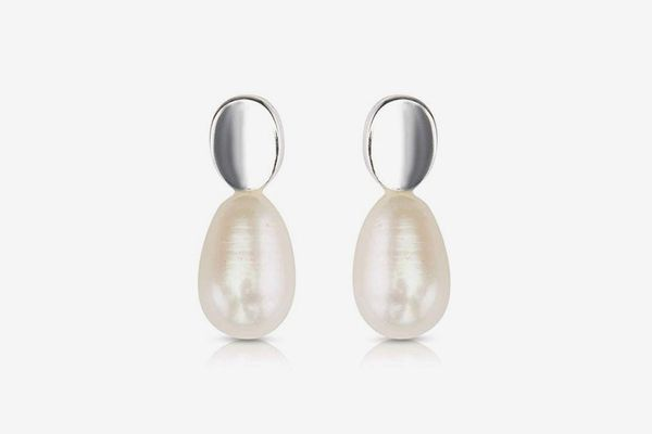 Izaara 92.5 Sterling Silver Studded Earring with Cultured Pearl