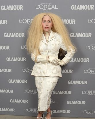 NEW YORK, NY - NOVEMBER 11: Lady Gaga attends Glamour's 23rd annual Women of the Year awards on November 11, 2013 in New York City. (Photo by Dimitrios Kambouris/Getty Images for Glamour)