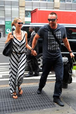 Heidi Klum and her boyfriend Martin Kristen sighting at Manhattan on June 10, 2013 in  New York City, New York.
