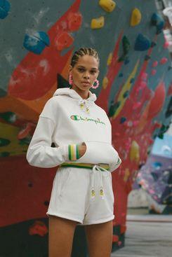 Champion X Susan Alexandra Reverse-Weave Hoodie Sweatshirt