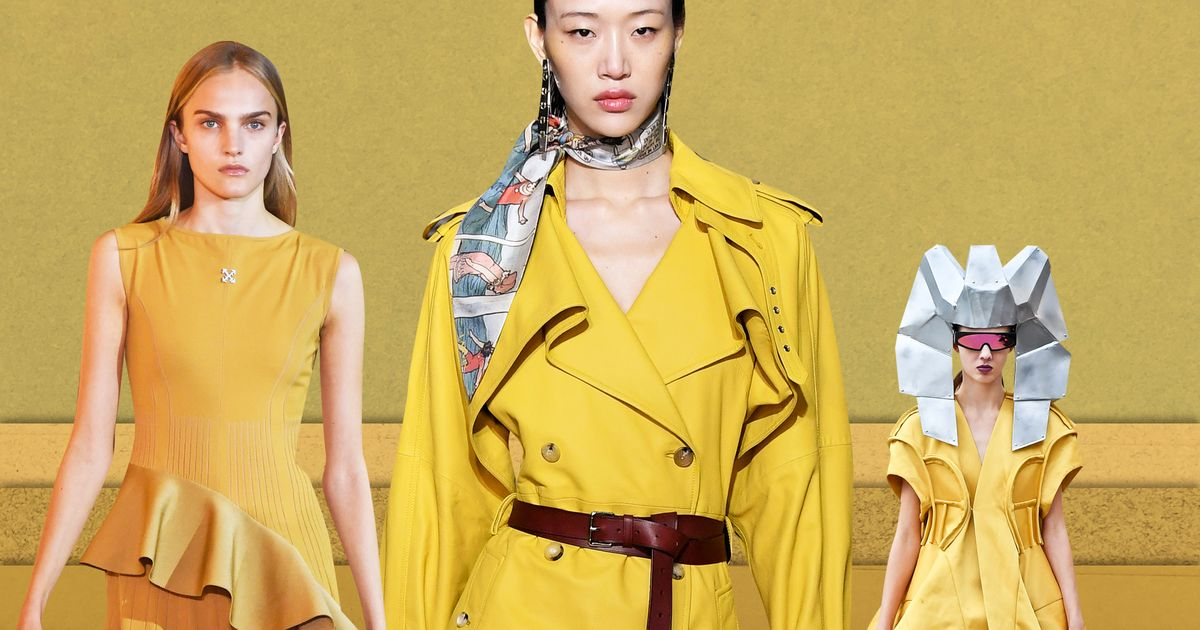Mustard (the Color) Is Slathered All Over Paris Fashion Week