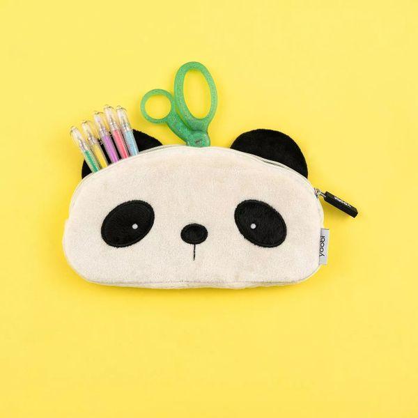 Yoobi Furry Panda Pencil Case
