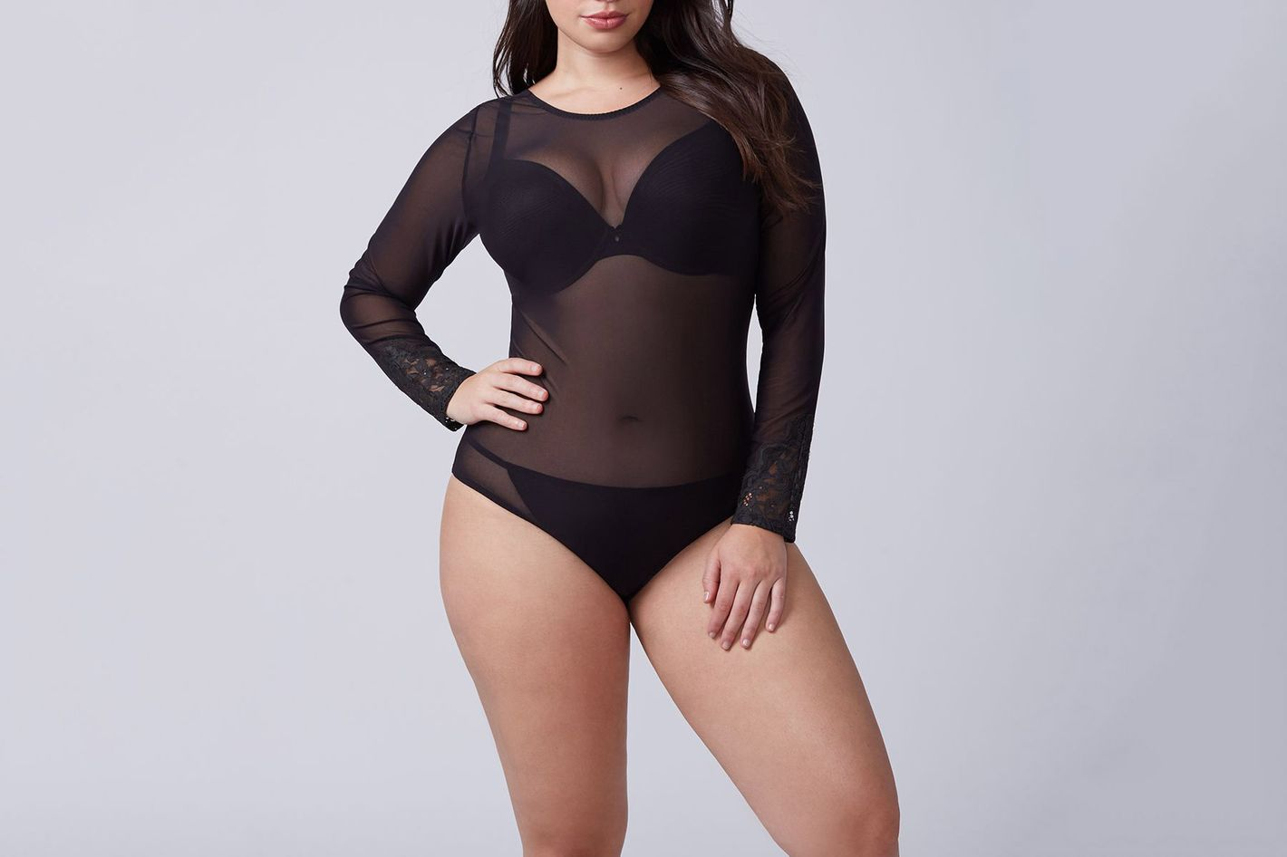 Mesh and Lace Bodysuit