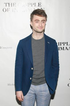 "Daniel Radcliffe==Opening Night Curtain Call and After Party for ""The Cripple of Inishmaan""==The Edison Ballroom, NYC.==April 20, 2014==?Patrick Mcmullan==photo-Sylvain Gaboury/PatrickMcmullan.com===="