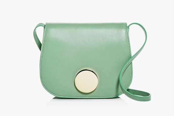 Little Liffner Leather Mini Saddle Bag