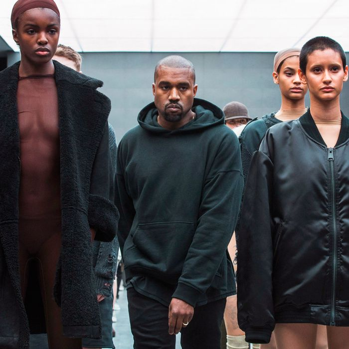 Kanye West at his 2015 show.