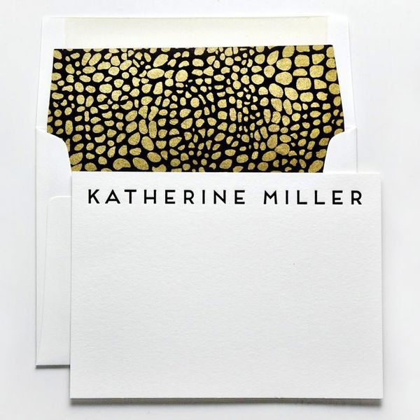 Haute Papier One Color Letterpress Custom Notecards