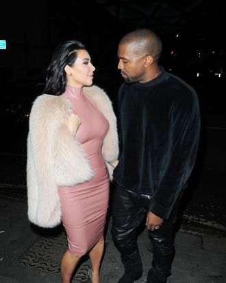 Kim Kardashian and Kanye West.