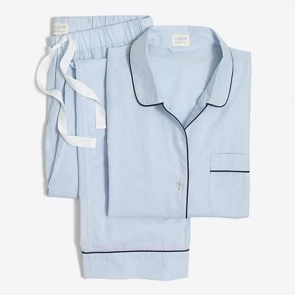 J. Crew Factory Long-sleeve End-on-end Pajama Set