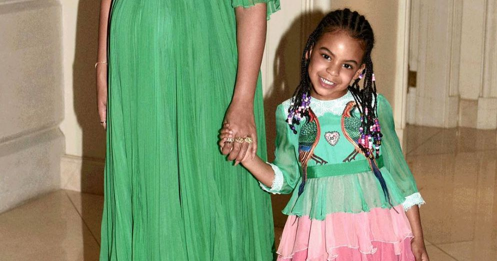 Blue Ivy Wore a Tiny Gucci Dress to 'Beauty and the Beast'