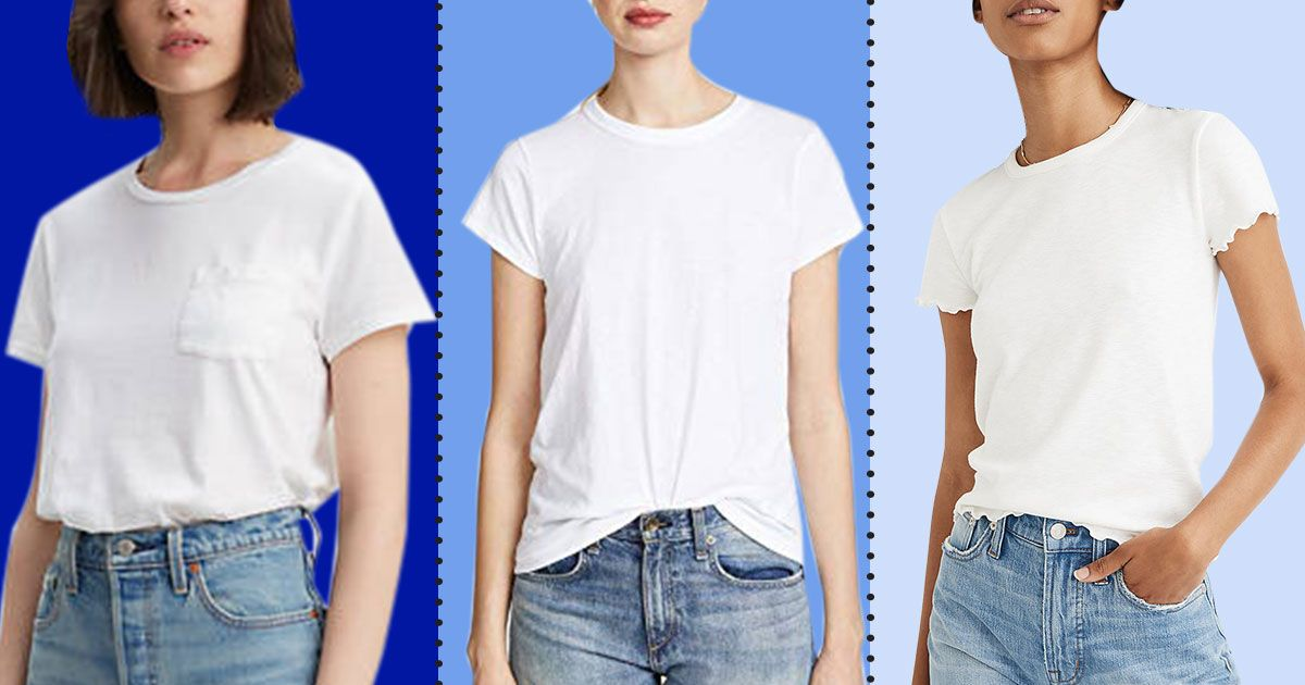 804ff93c The 17 Best White T-shirts for Women 2019