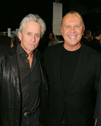 Michael Douglas and Michael Kors.