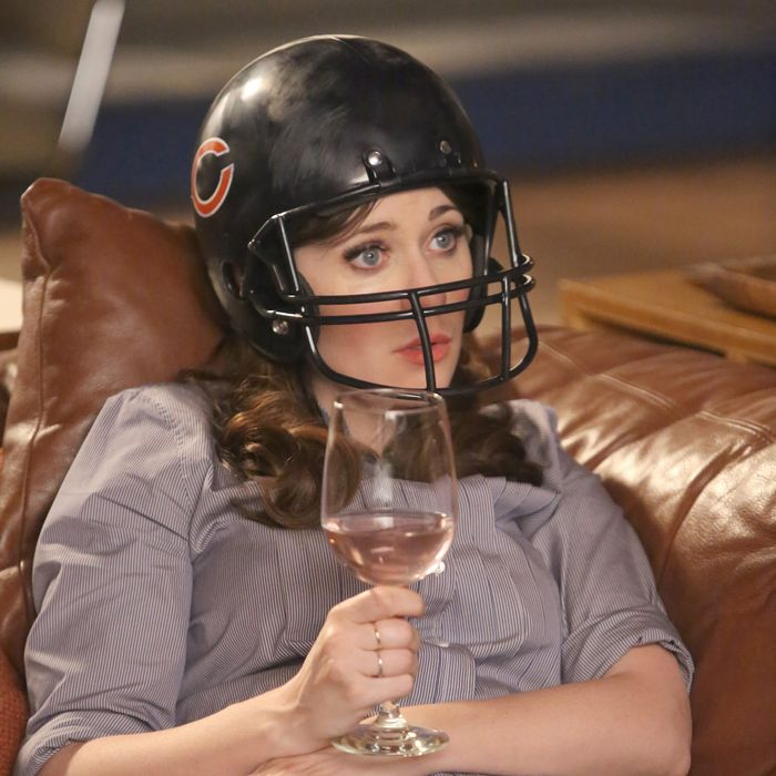 "NEW GIRL: Zooey Deschanel in part two of the special one-hour ""Jeff Day/Helmet"" episode of NEW GIRL airing Tuesday, April 19 (8:00-9:00 PM ET/PT) on FOX. ©2016 Fox Broadcasting Co. Cr: Patrick McElhenney/FOX"