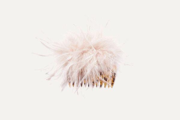 Loeffler Randall Josie Feather-Embellished Hair Slide