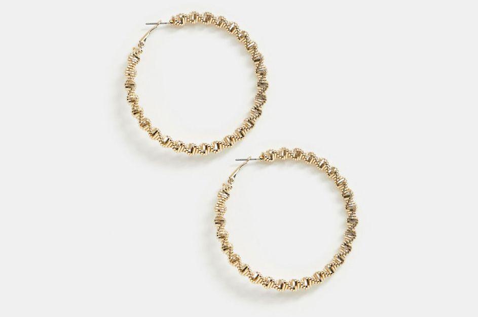 River Island Textured Hoop Earrings