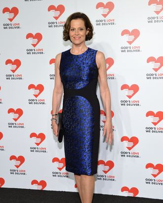 NEW YORK, NY - OCTOBER 16: Actress Sigourney Weaver attends God's Love We Deliver 2013 Golden Heart Awards Celebration at Spring Studios on October 16, 2013 in New York City. (Photo by Larry Busacca/Getty Images for Michael Kors)