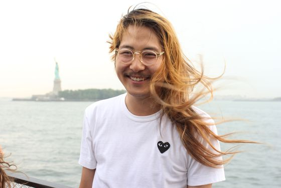 Bowien, showing his New York love.