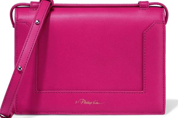 3.1 Phillip Lim Soleil Mini Leather Shoulder Bag (Fuchsia)