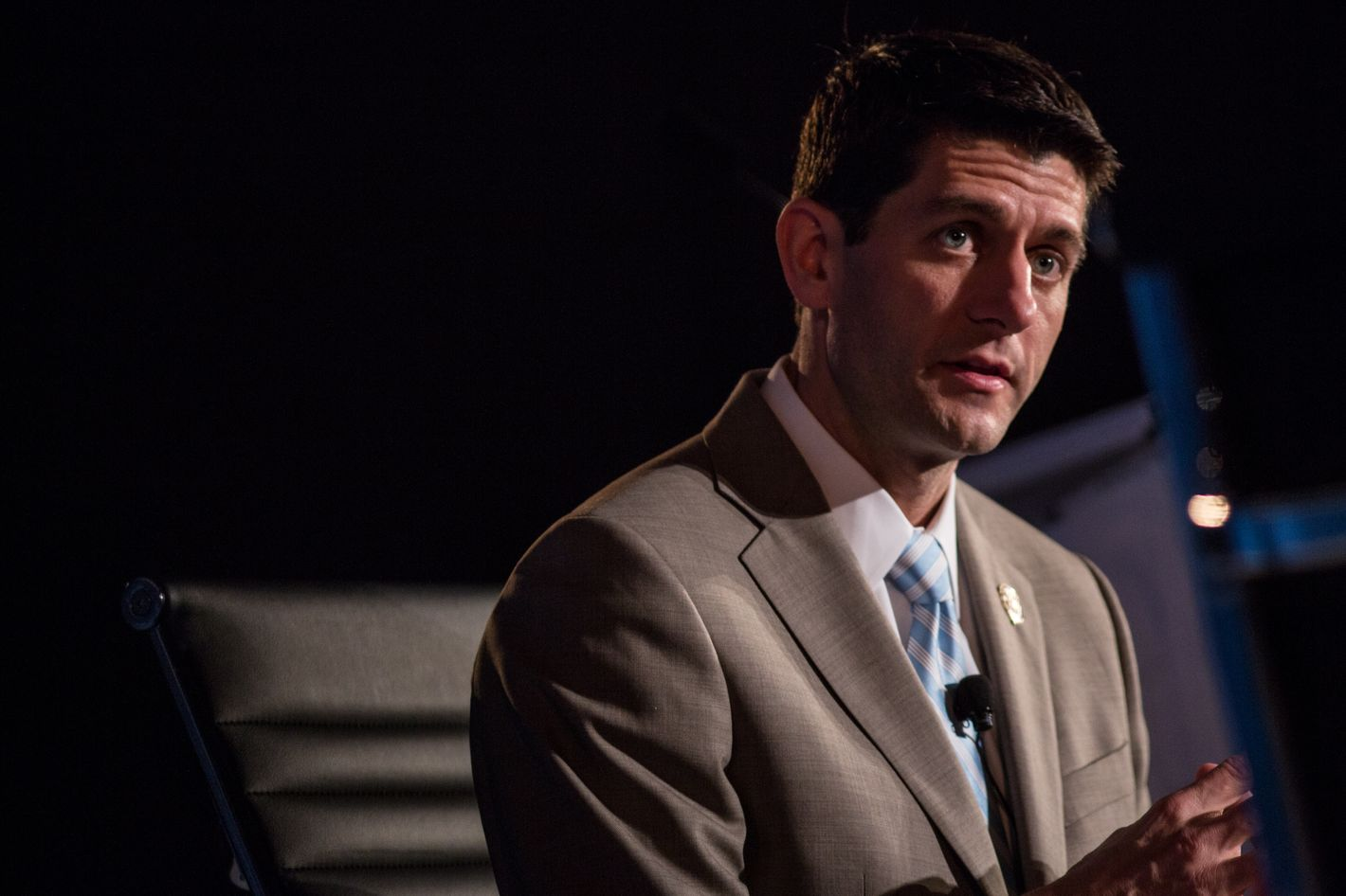 """WASHINGTON, DC - MAY 15: House Budget Committee Chairman U.S. Rep. Paul Ryan (R-WI) speaks at the 2012 Fiscal Summit on May 15, 2012 in Washington, DC. The third annual summit, held by the Peter G. Peterson Foundation, explored the theme """"America's Case for Action."""" (Photo by Brendan Hoffman/Getty Images)"""