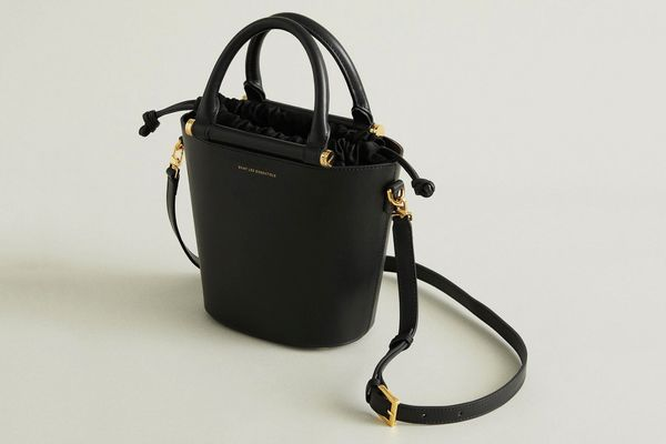 WANT Les Essentiels Mini Munro Leather Bucket Bag