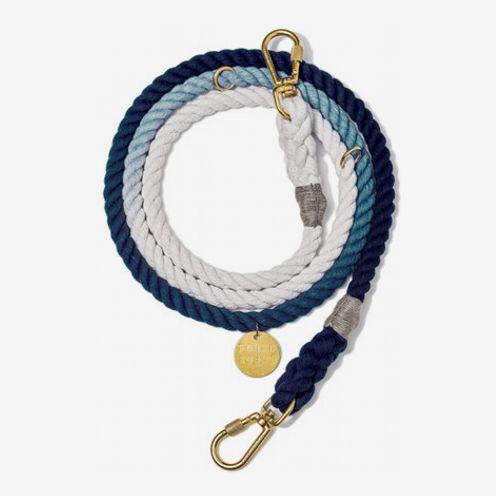 Laisse ajustable pour chien Found My Animal en corde ombrée, 7 pi.