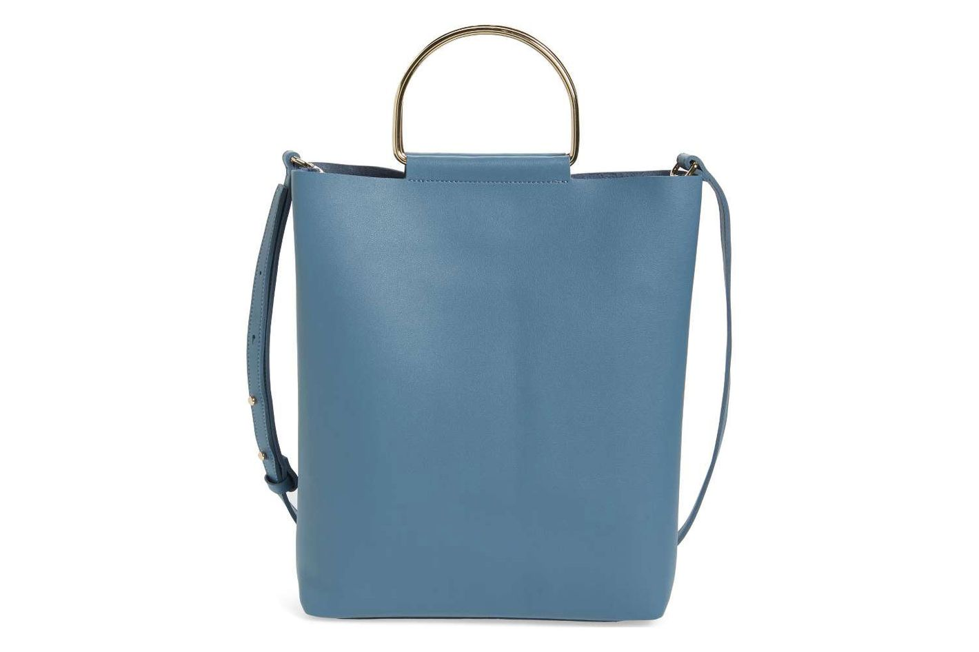 Topshop Faux Leather Tote