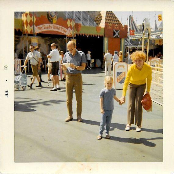 Bob Fosse, Nicole Fosse, and Gwen Verdon at Disneyland in July 1968.