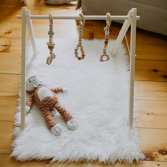 Wee Little Hedgehog Wooden Baby Gym