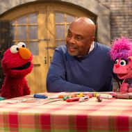 Photo: Elmo, Rosita; Abby & Gordon in Outreach: Little kids, Big Challenges: RESILIENCY/DIVORCE; Sesame Street Production; Director: Kevin Clash; television production photographed: Thursday, May 17, 2012; 8:45 AM at  Kaufman-Astoria Studios; Astoria, New York; Photograph: © 2012 Richard Termine.PHOTO CREDIT - Richard Termine