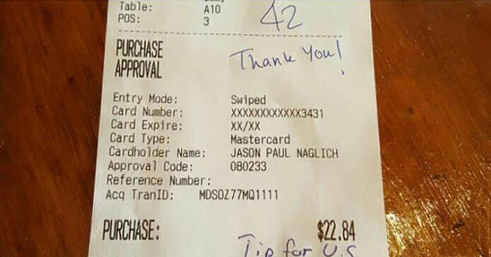racist receipt sets off outpouring of tips
