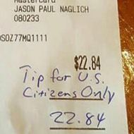 Customers Generously Tip Waitress Who Received a Racist Receipt